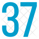Thirty Seven Numbers Icon