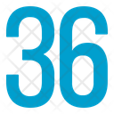 Thirty Six Numbers Icon