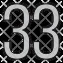 Thirty Three Icon