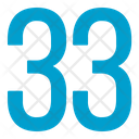 Thirty Three Numbers Icon