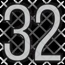 Thirty Two Icon