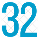 Thirty Two Numbers Icon