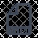Thm File Document Icon