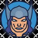 Thor Warrior Superhero Icon