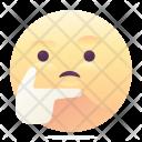 Thoughtful Emoji Smiley Icon