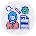 Thoughts The Analysis Document Employee Icon