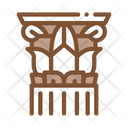 Threaded Greek Column Icon
