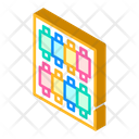 Threads Isometric Color Icon