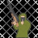 Terrorist Threatening Criminal Icon