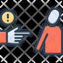 Threat Blackmail Hazard Icon