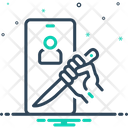 Threaten Intimidate Blank Call Icon