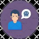 Bone Cranium Threats Icon