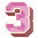 Three Number Numeric Icon