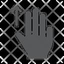 Three Finger Drag Icon