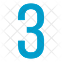 Three Numbers Icon