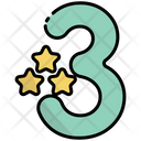 Three 3 Number Icon