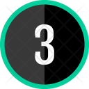 Three Number Count Icon