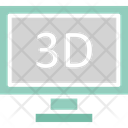Three dimension monitor Icon