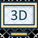 Three Dimension Monitor Icon