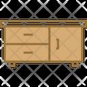 Three Drawer Table Icon