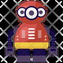 Three Eyed Robot Monster Robot Evil Robot Icon