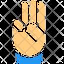 Three Finger Icon