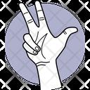 Three Finger Fingers Finger Icon