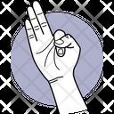 Three Fingers Fingers Finger Icon
