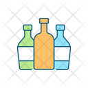 Three Glass Bottles Icon