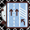Three Land Road Icon