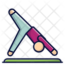Downward Facing Flic Flac Gymnastic Icon