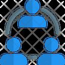 Three People Team Group Icon