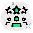 Three People Relation People Hierarchy Connection Icon