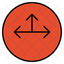 Three Route Three Way Junction Icon