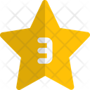 Three Star Rating Review Icon
