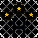 Three Star Hotel Icon