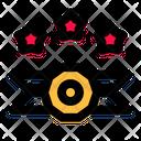 Three Star Medal Icon