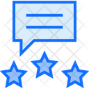 Three Stars Rating Comment Icon