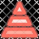 Three tier pyramid Icon
