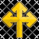 Three Way Turn Pointer Turn Icon