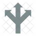 Three Way Road Direction Directions Icon