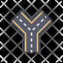 Three Way Road Highway Icon