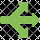 Three Way Sign Icon