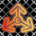 Three Way Arrow Direction Up Icon