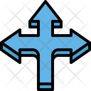 Three Way Arrow Tripple Right Icon