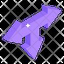 Three Way Arrows Icon