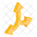 Three Way Directions Icon
