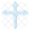 Three Way Intersection Icon