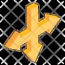 Three Way Intersection Icon