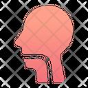 Throat Speaking Body Part Icon